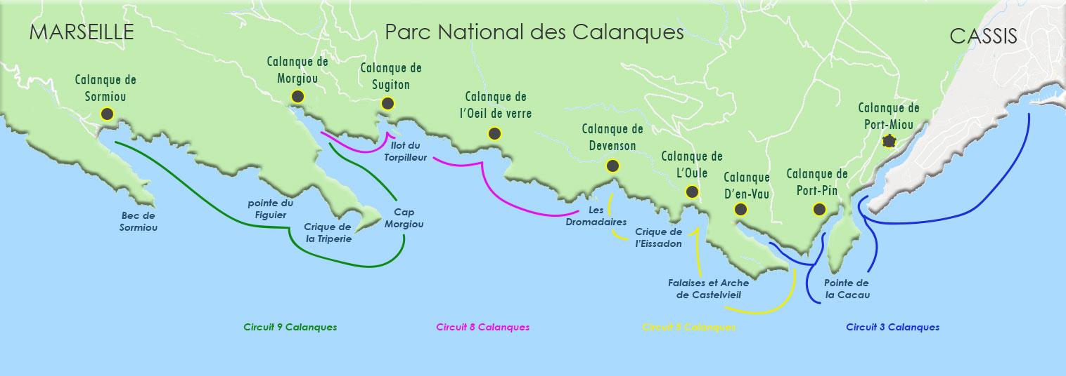 carte des calanques de cassis calanques cassis.com
